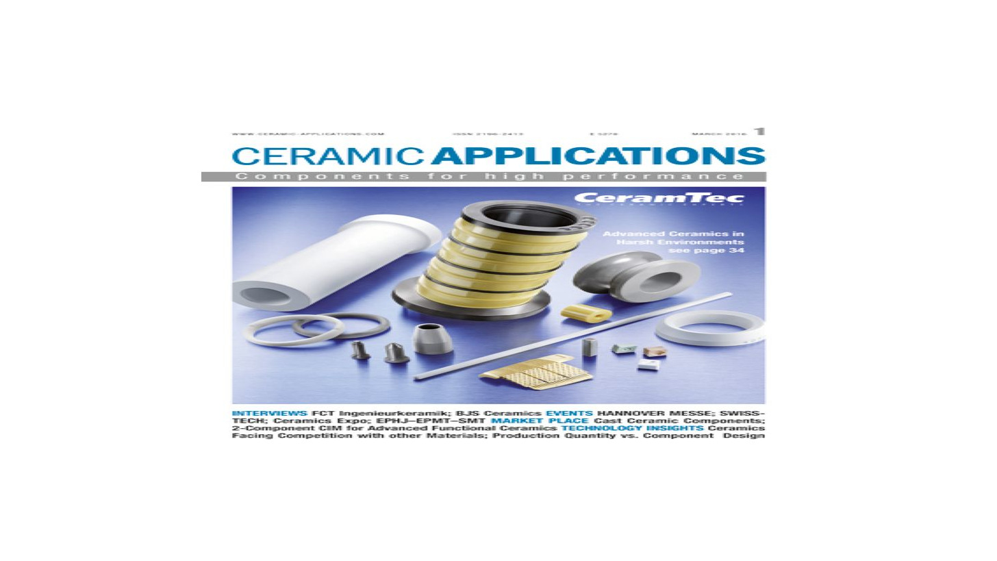 Logo CERAMIC APPLICATIONS (print and on-line)