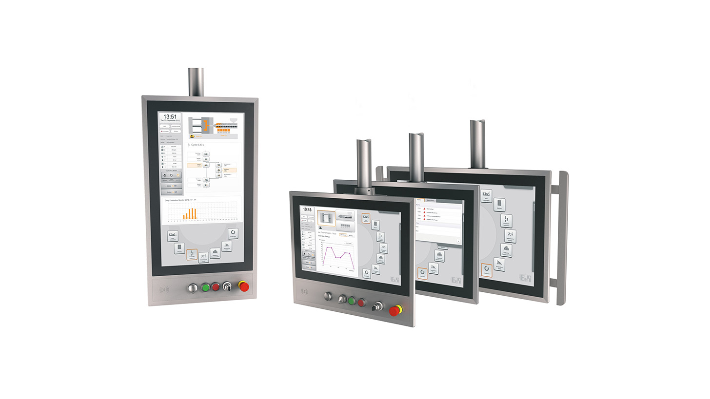 Logo Modular support arm systems multi-touch