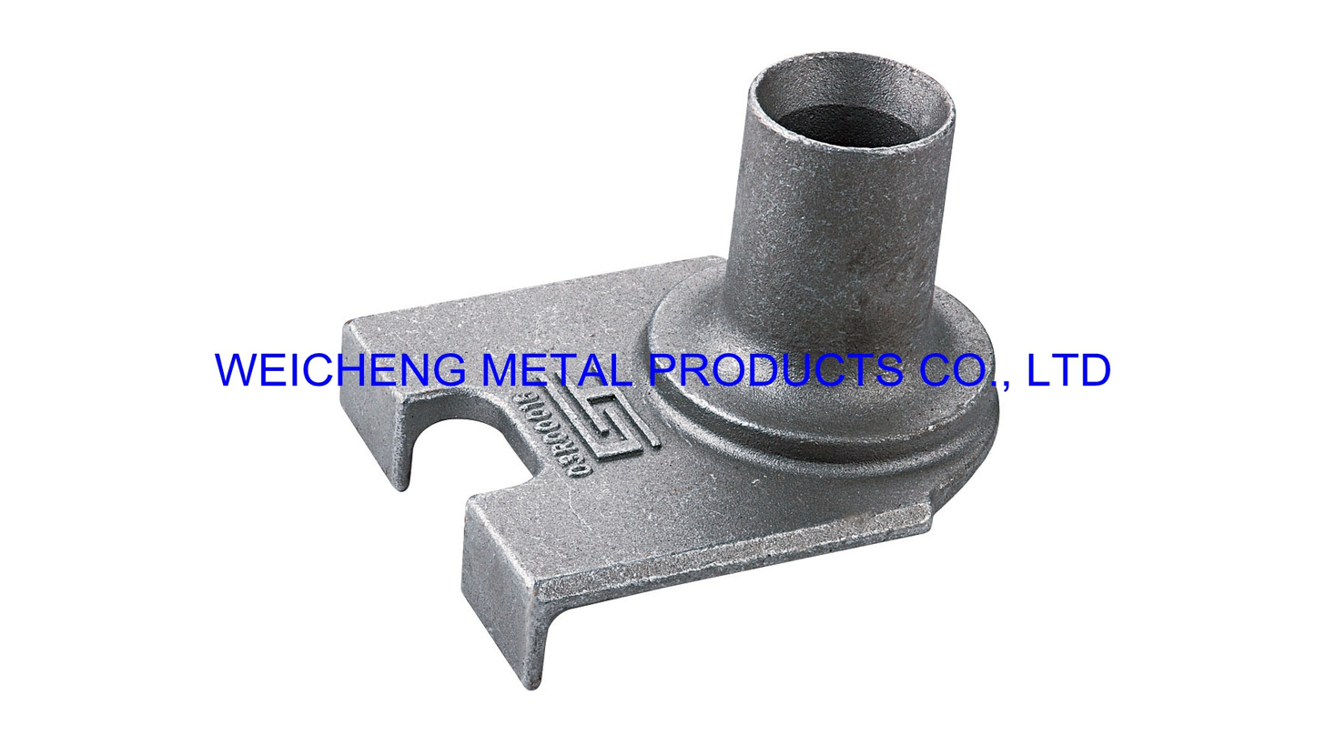Logo truck fitting by water-glass casting