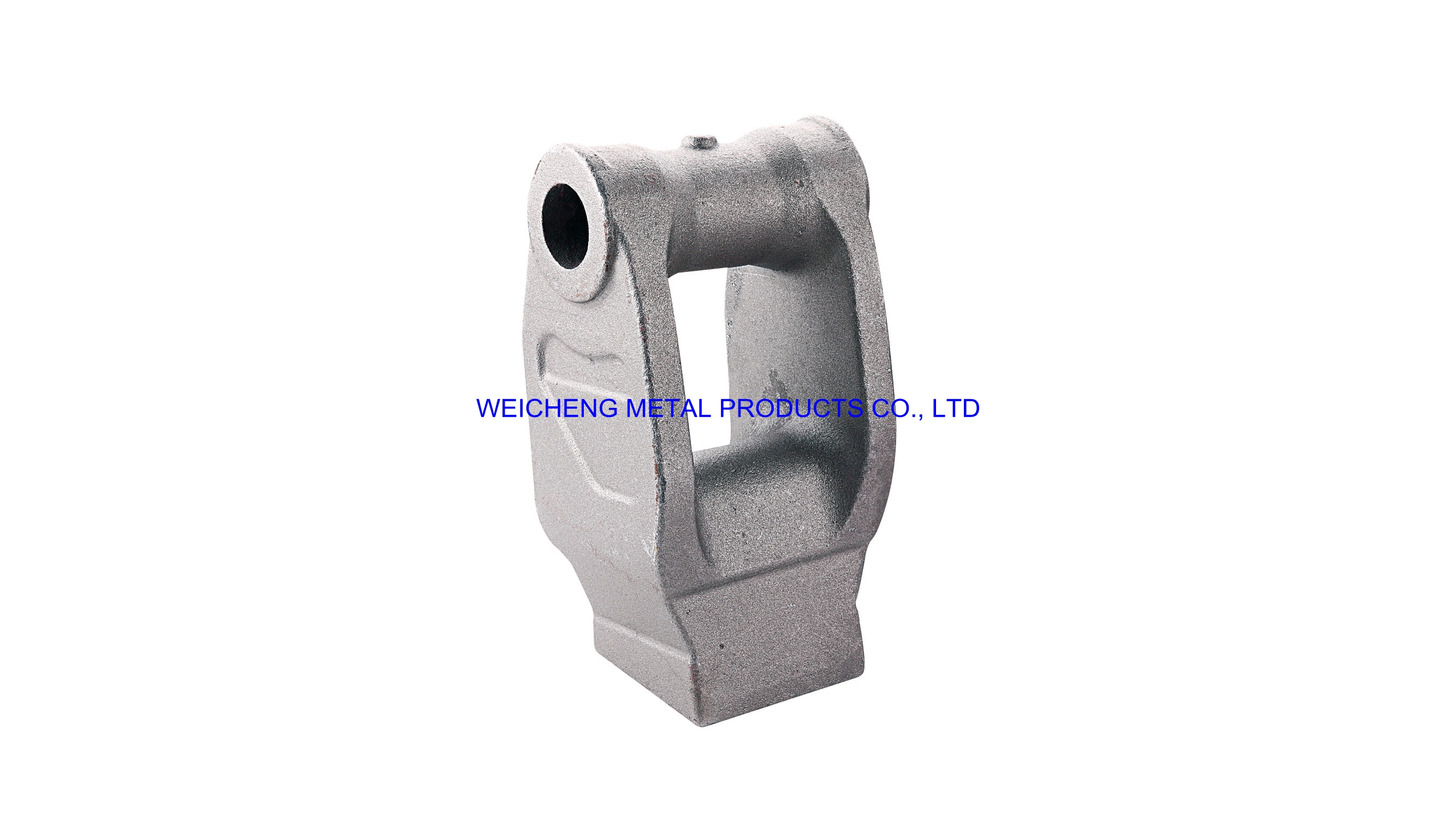 Logo mining machine fitting by casting