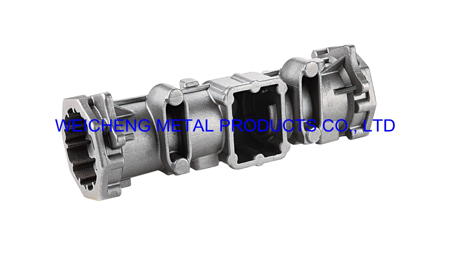 Logo agricultural machine fitting by casting