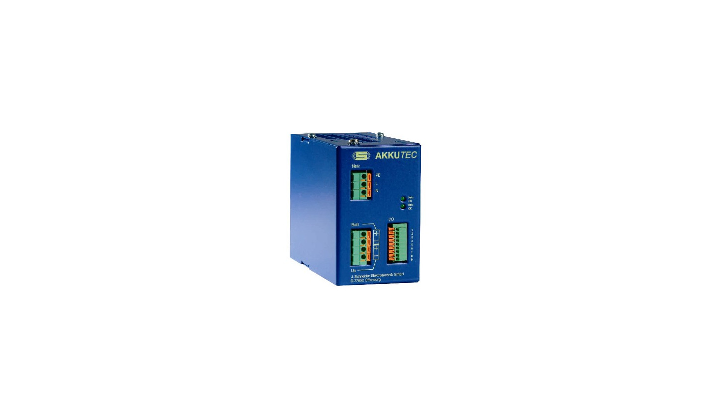 Logo UGV (uninterrupted power supply co-current flow feed-in) AkkuTEC 4801