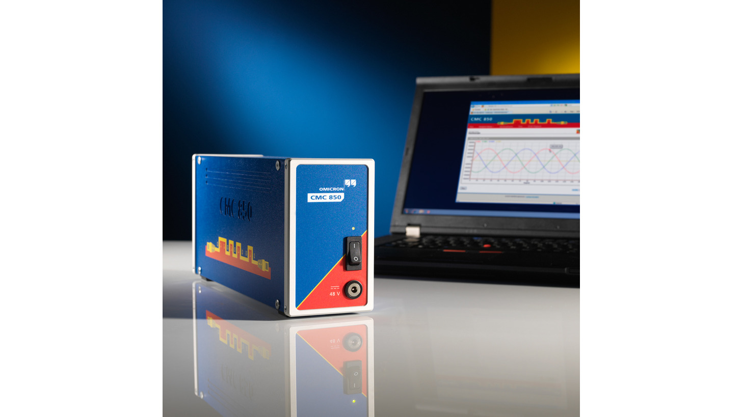 Logo CMC 850 protection testing device