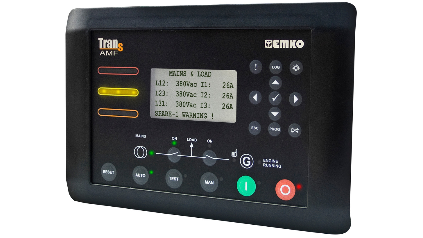 Logo Trans-AMF, Automatic Gen-Set Protection&Control /w Transfer Switching