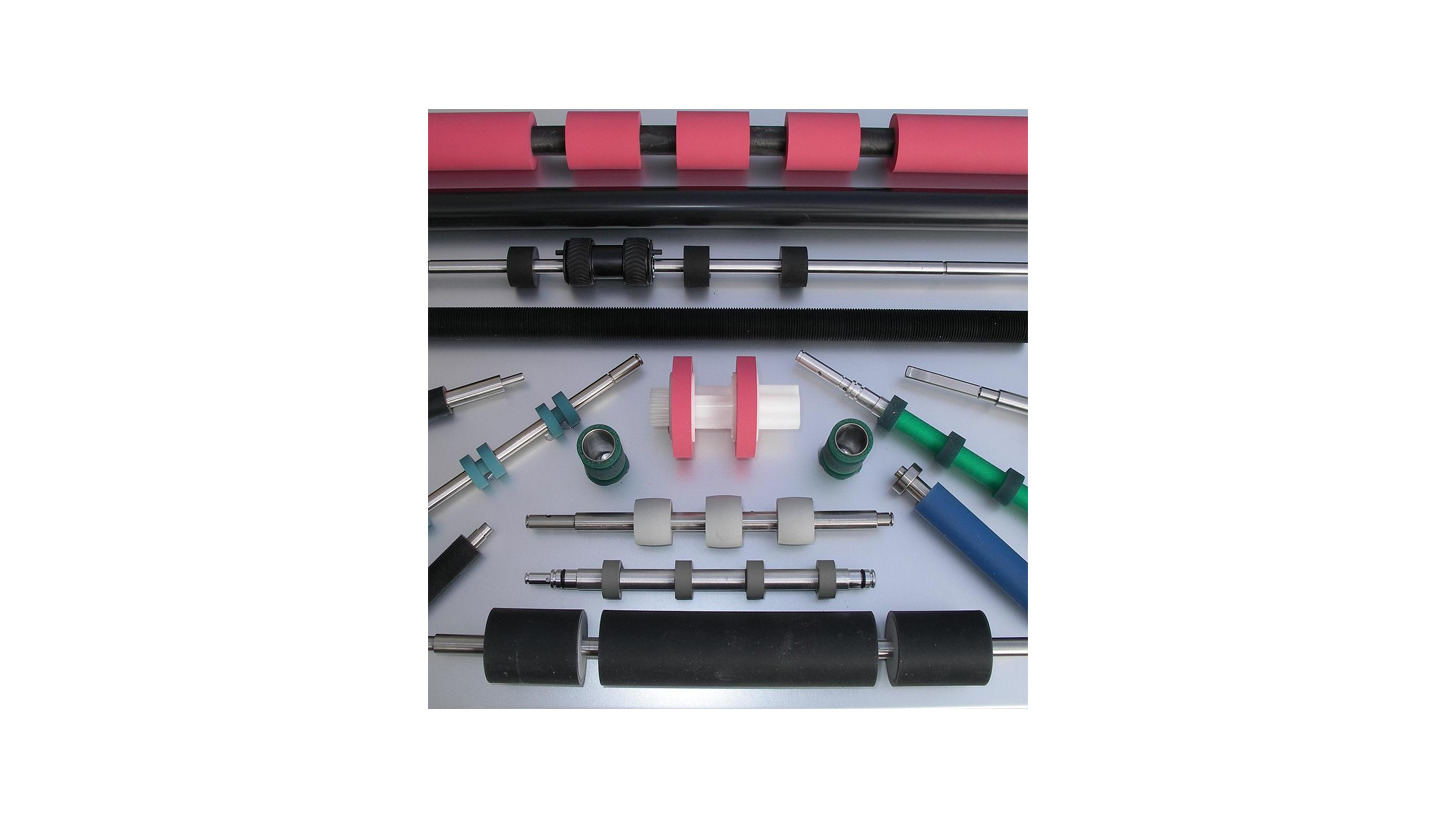 Logo cylinders and rollers in rubber,  polyurethane, silicon, foam and cfk