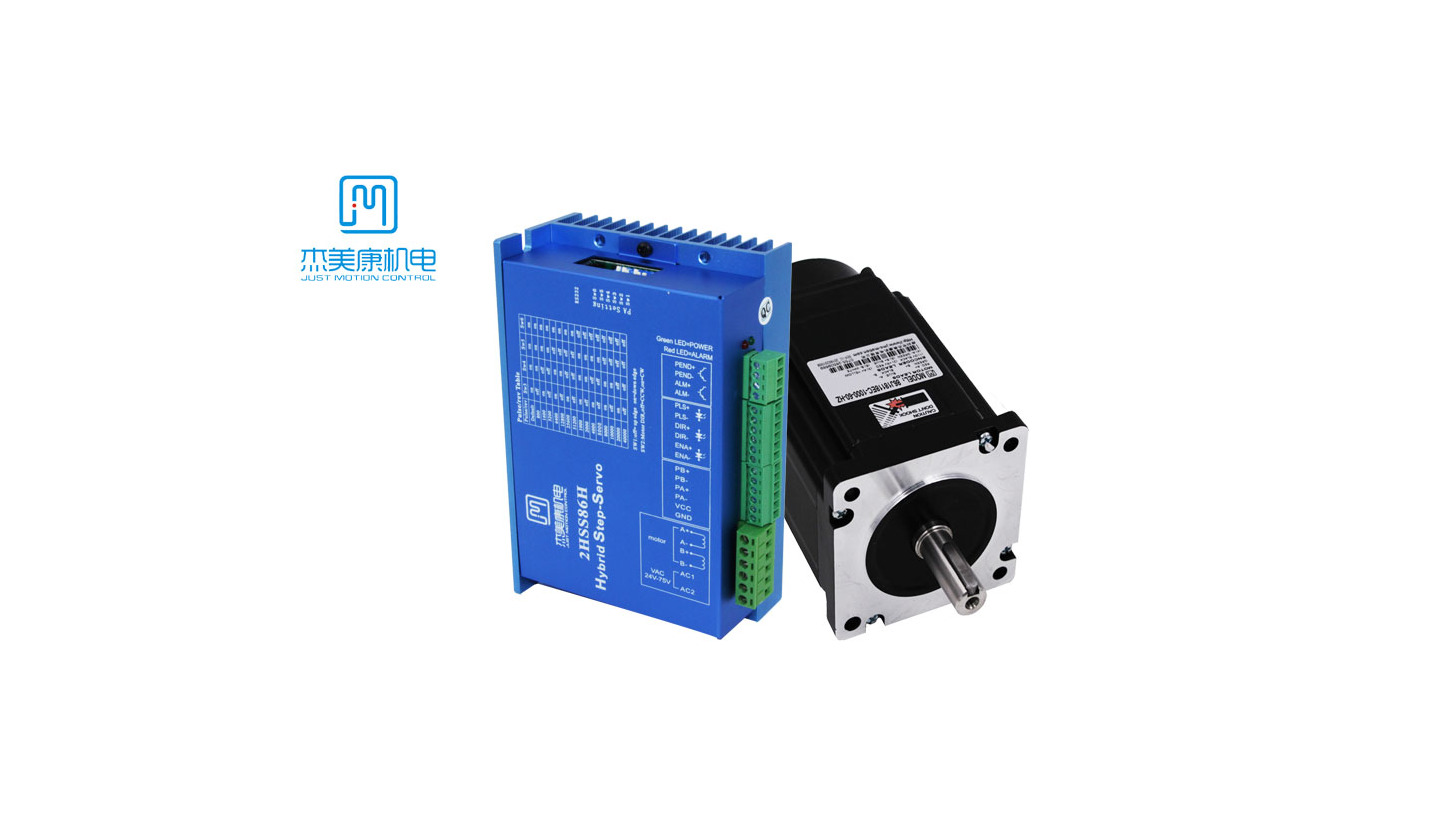 Logo Nema 34 8.5N.m stepper motor with encode