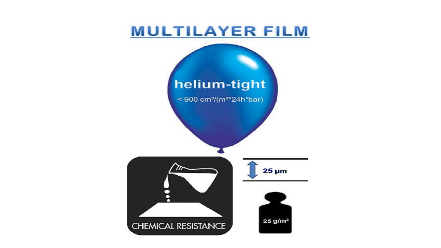 Logo MULTILAYER FILM  gas- helium dicht
