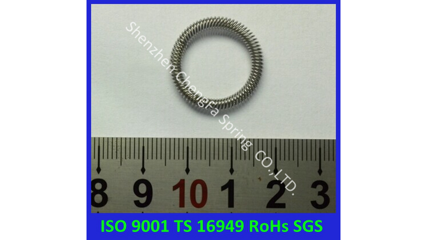 Logo canted coil Spring