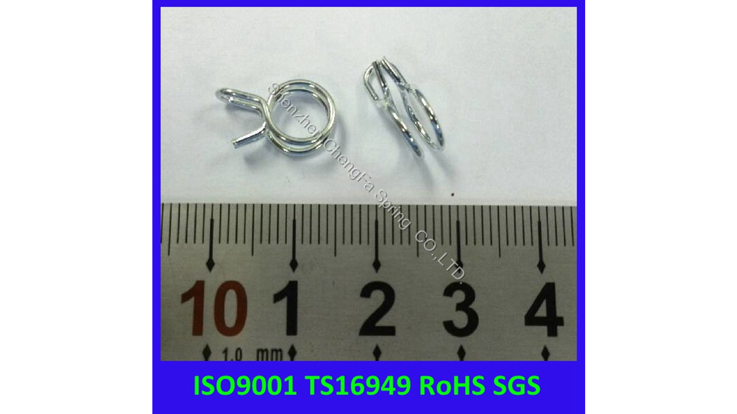 Logo good quality double spring clip