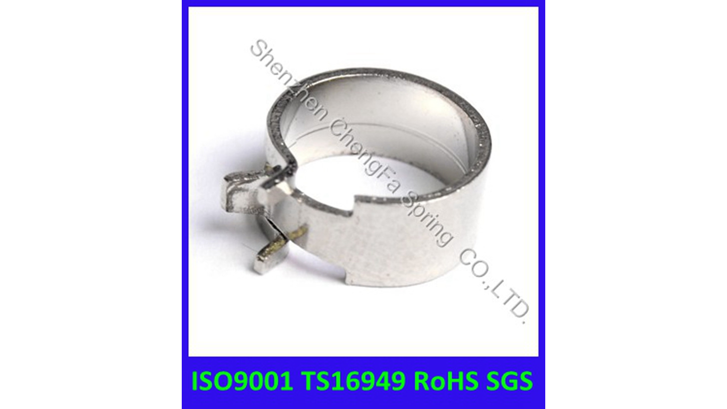 Logo flat wire hose clamp