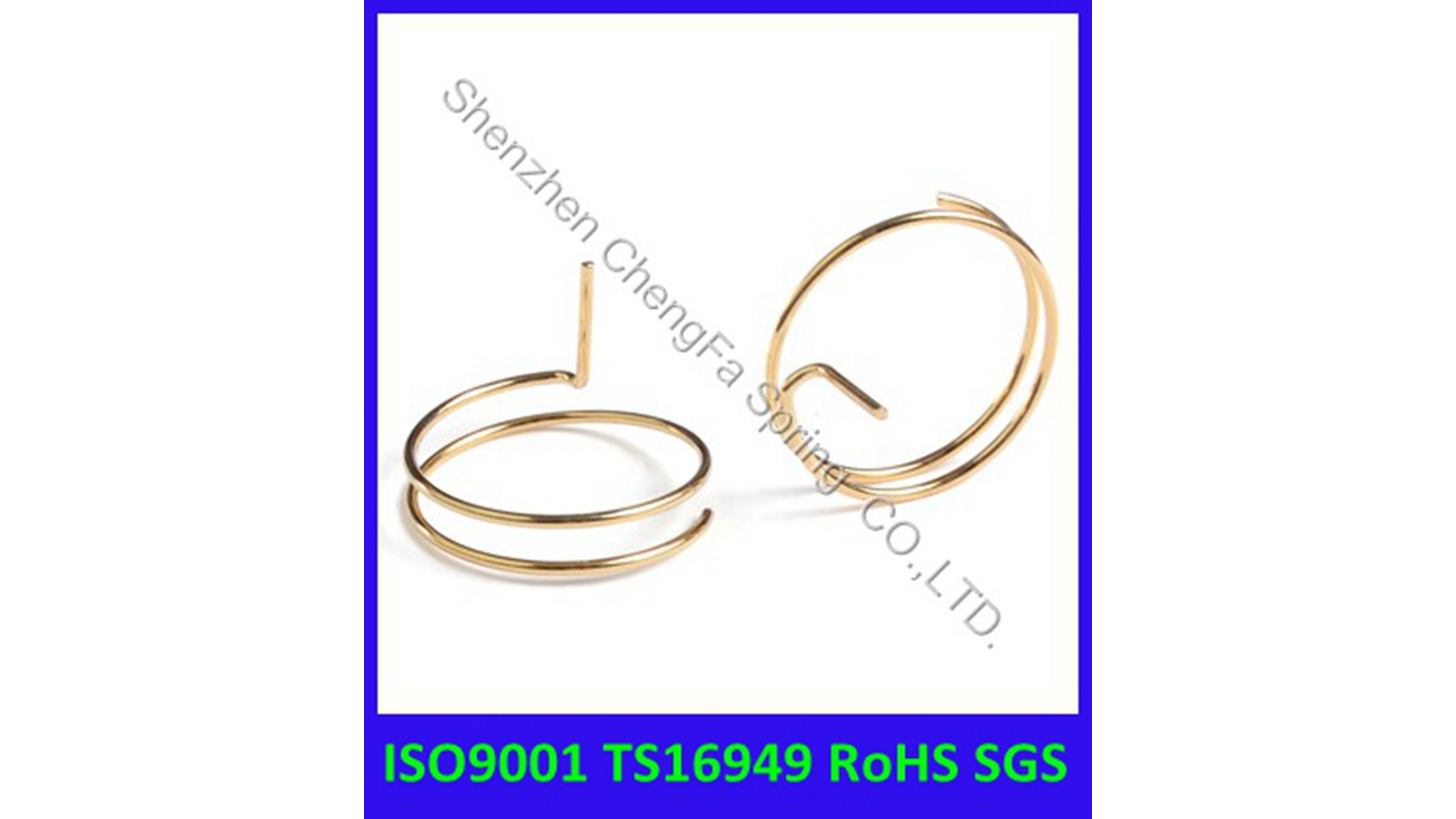 Logo gold-plated spring