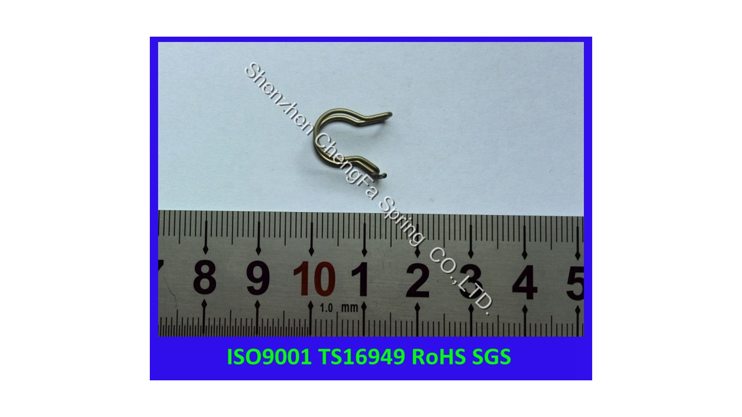 Logo stainless steel spring clip