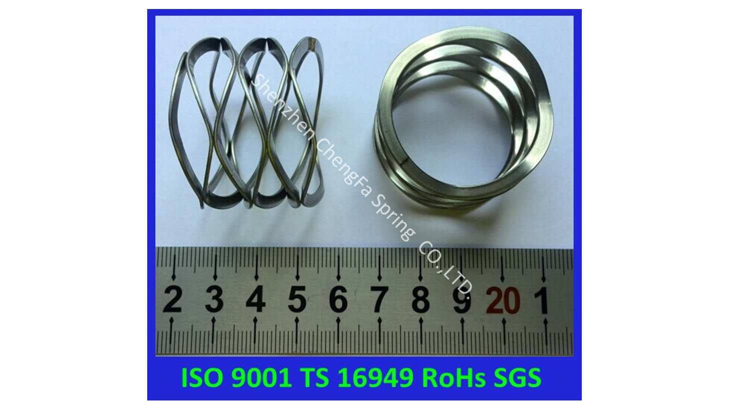Logo stainless steel wave spring