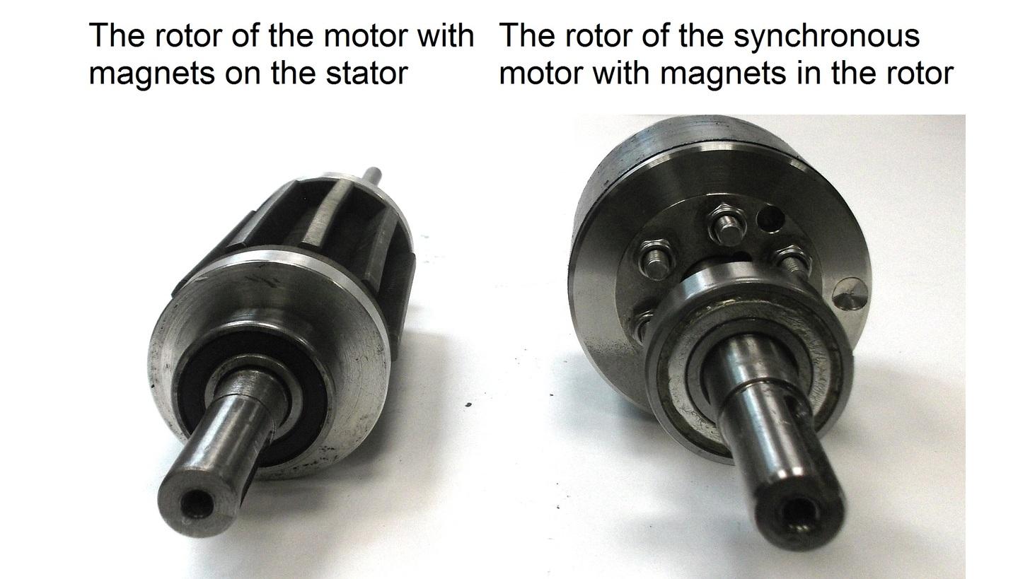 Logo Servomotor with magnets on stator