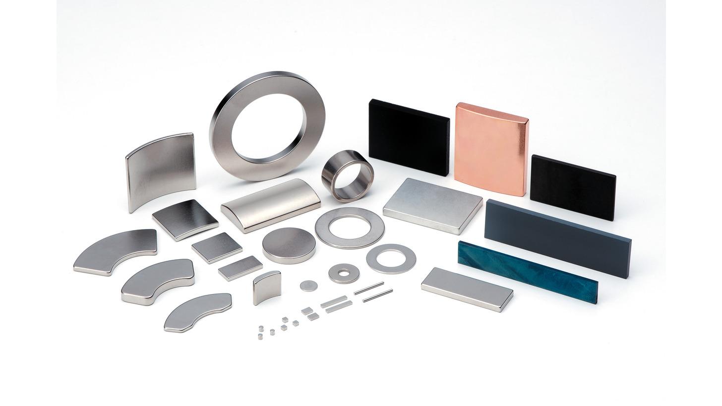 Logo Dy-free neodymium and La-Co-free ferrite magnets!