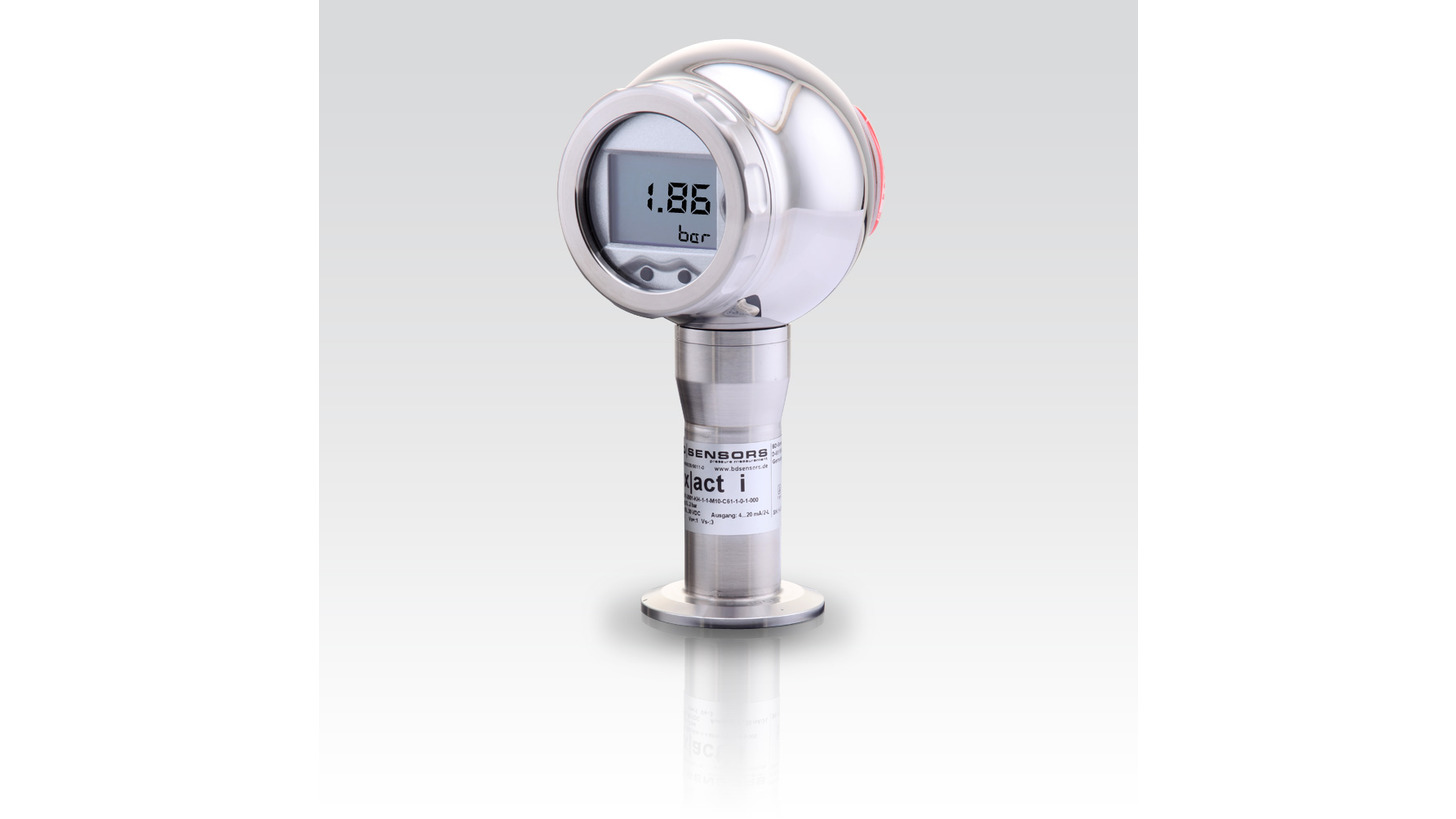 Logo pressure transmitter for chemical industry, pharmacy and foodstuff