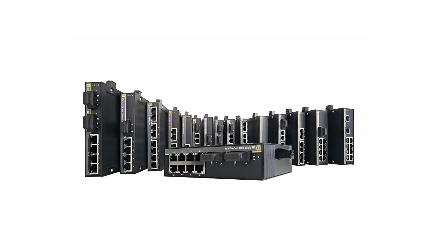 Logo Unmanaged Ethernet Switches Ha-VIS eCon