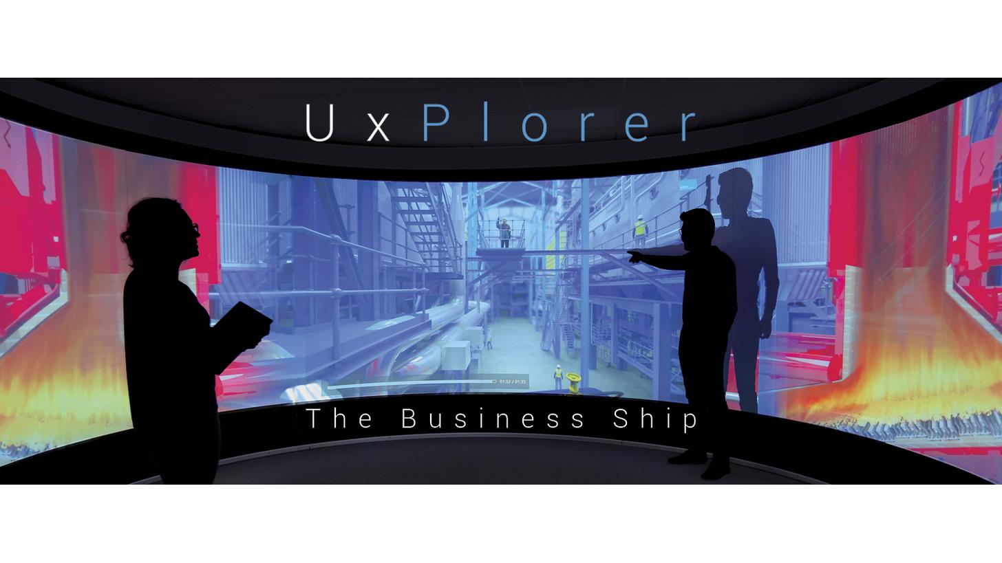 Logo UxPlorer®  The Business Ship