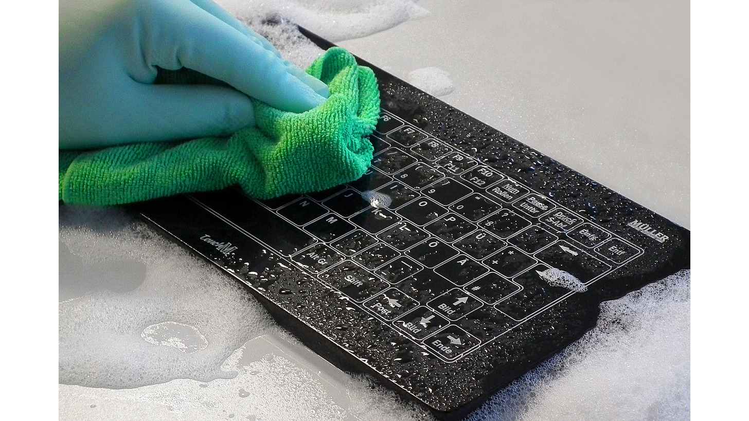 Logo TouchM industrial-keyboard series in Hygienic Design