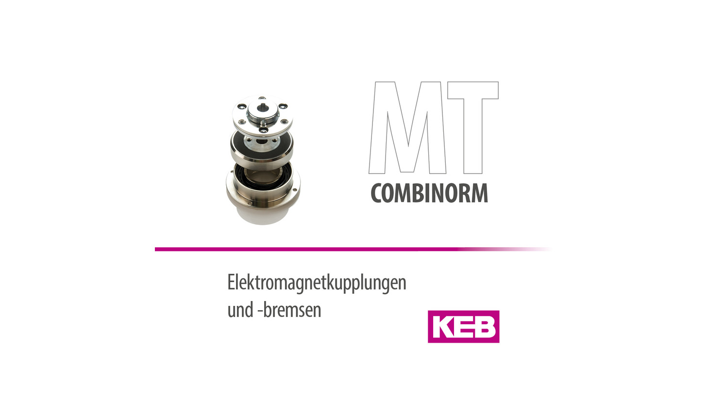Logo KEB COMBINORM - Electromagnetic clutches