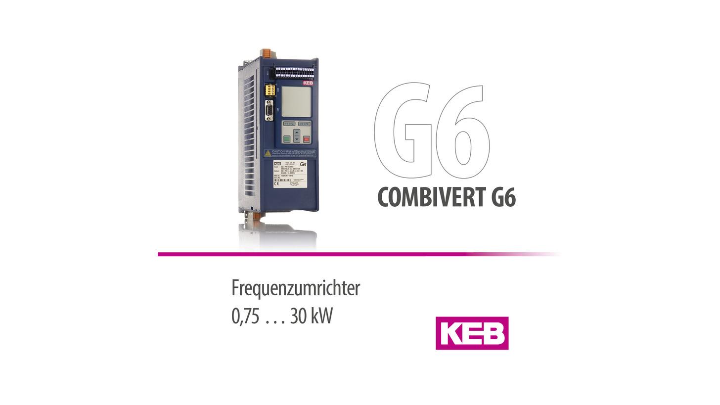 Logo KEB COMBIVERT G6 - Frequenzumrichter