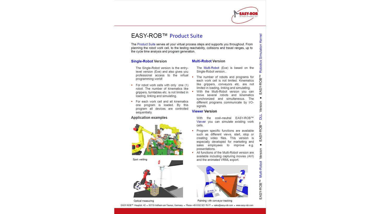 Logo EASY-ROB Product Suite