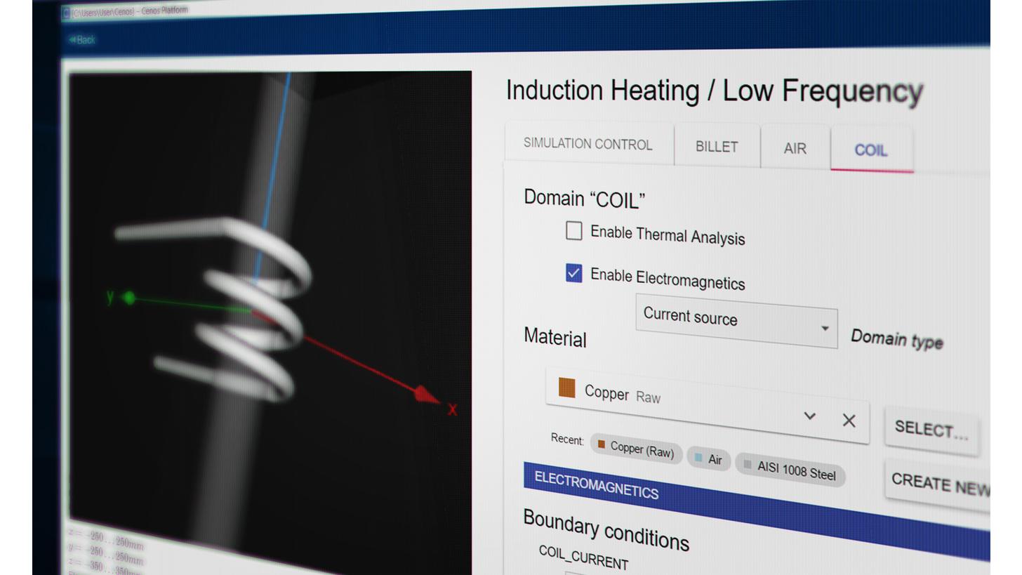 Logo CENOS Induction Heating Simulation