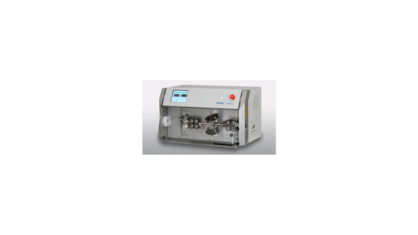 Logo Komax Kappa 322 Kabelverarbeitungsautomat mit Innenleiterverarbeitung