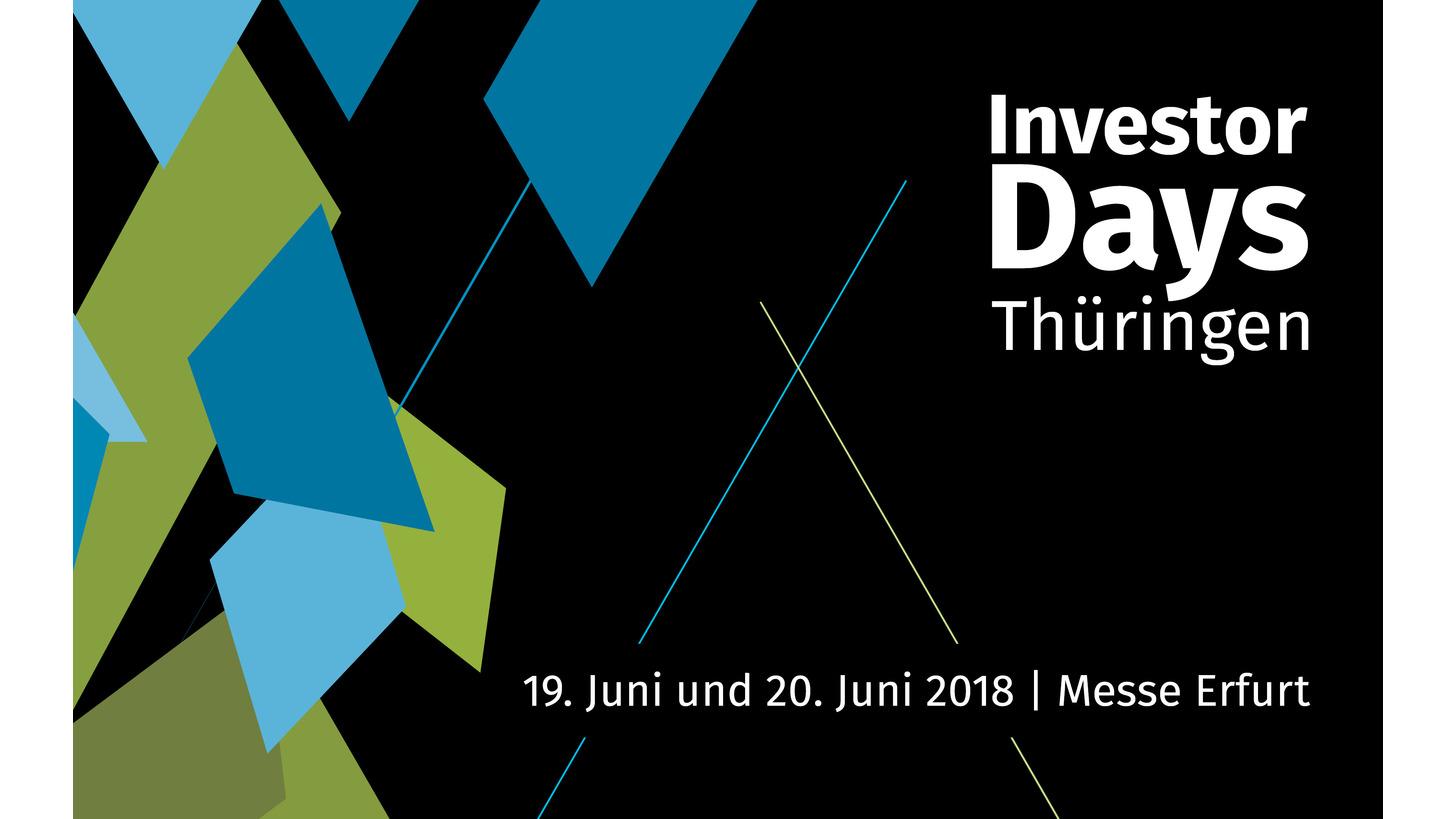 Logo Investor Days Thüringen 2018