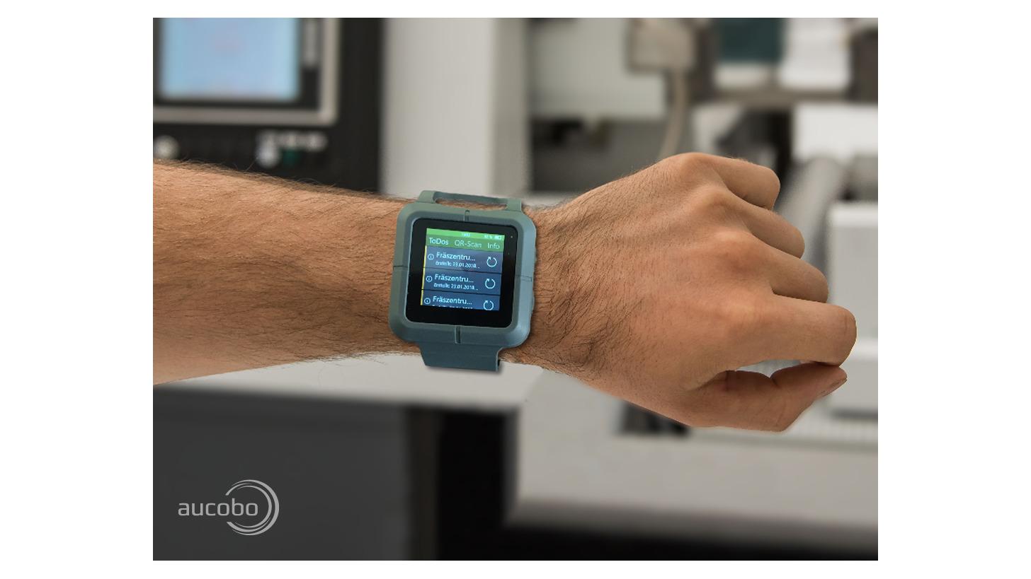 Logo Industrie Smartwatch für die Produktion