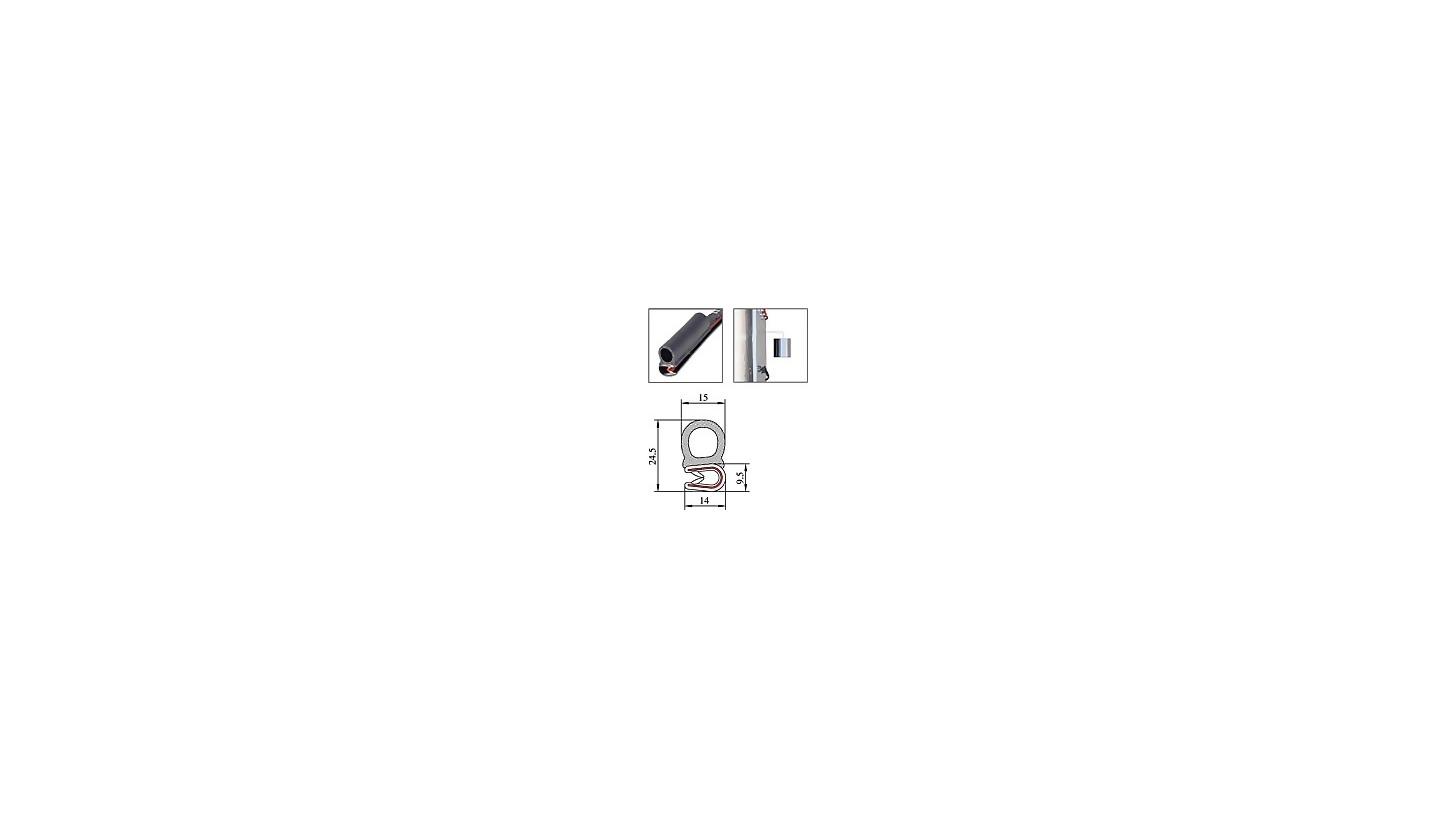 Logo PVC Edge Protector Sealing Profiles