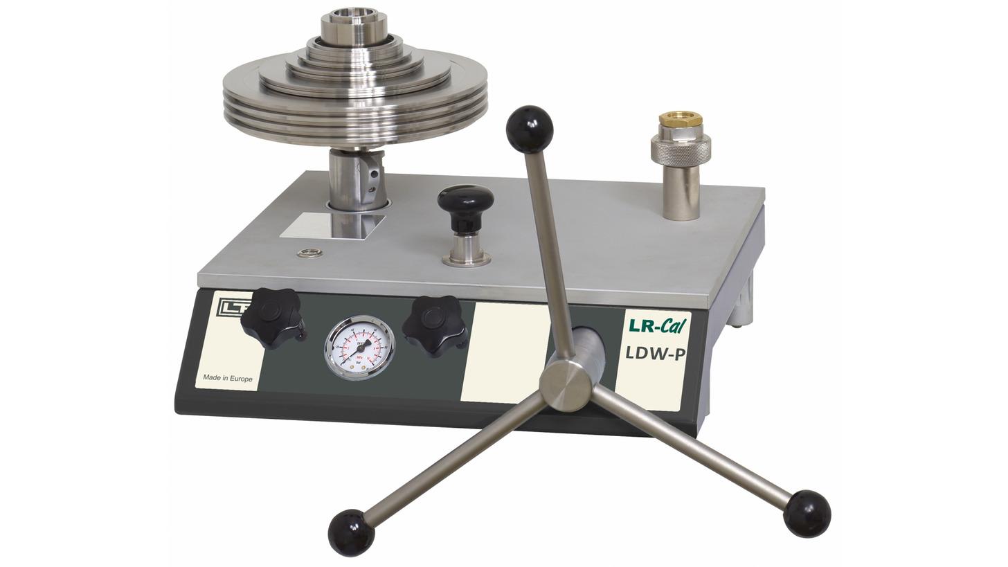 Logo LR-Cal LDW-P Druckwaage / Kolbenmanometer, pneumatisch