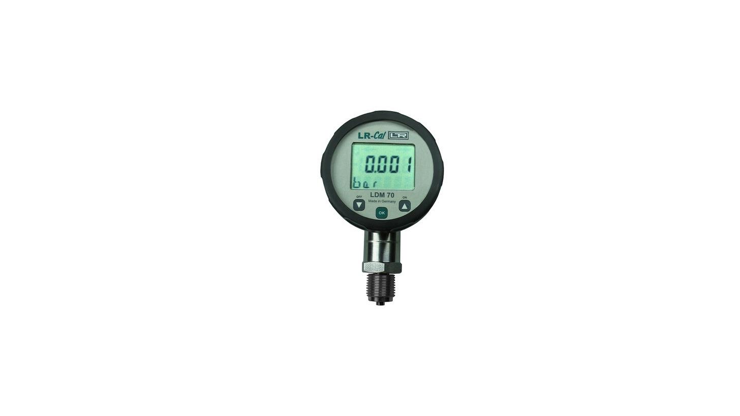 Logo LR-Cal LDM 70 Test Pressure Gauge ±0.125% FS / ±ß-25% FS