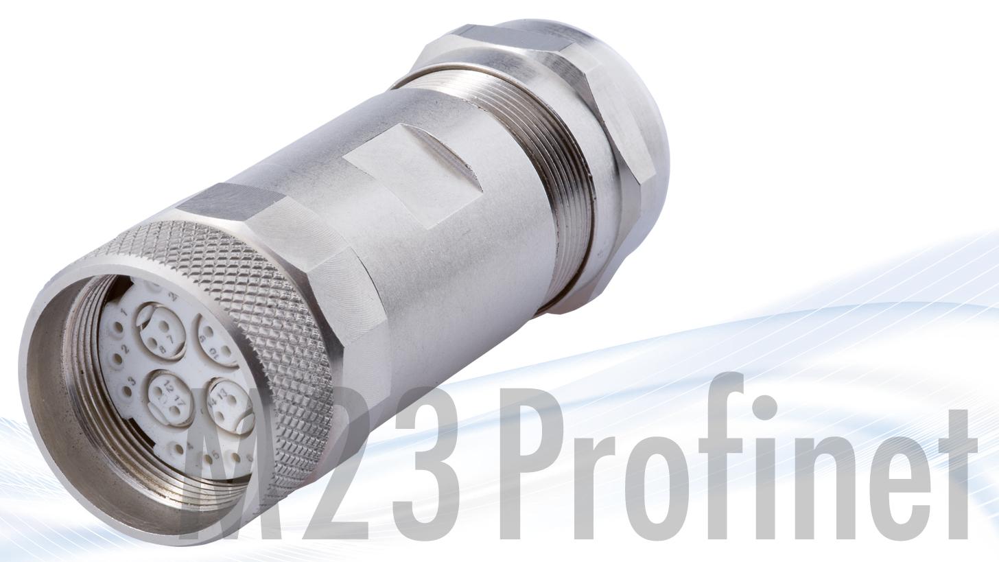 Logo M 23 Profinet circular plug-in connector