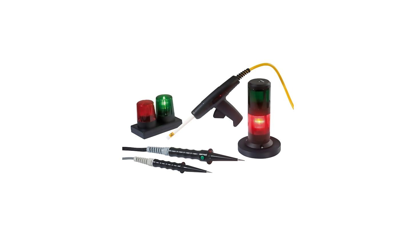 Logo HV test pistols, warning lamps, safety equipment, test probes