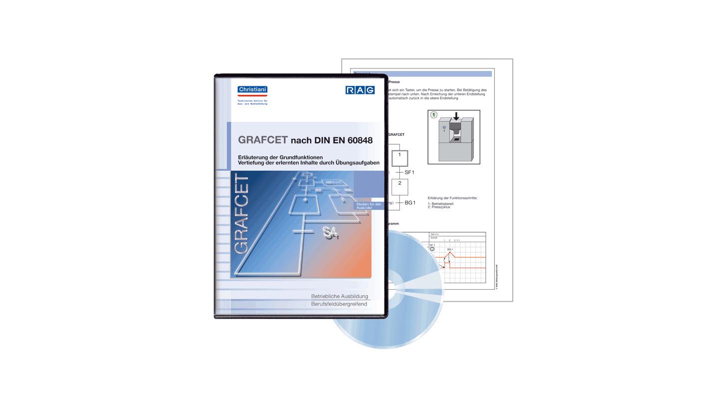 Logo GRAFCET nach DIN EN 60848 / Unterlagen für den Ausbilder auf CD-ROM