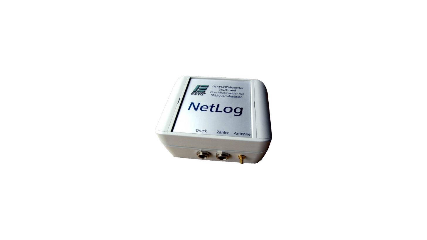 Logo NetLog: Datenlogger mit Fernübertragung via Internet und GPRS