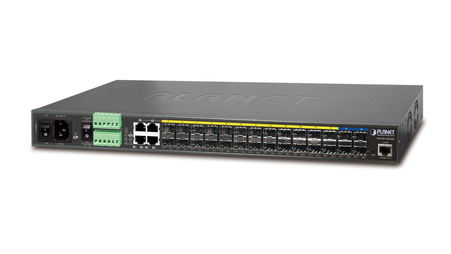 Logo 24x Gigabit + 4x 10G Fiber L2/L4 Managed Metro Ethernet (MGSW-28240F)