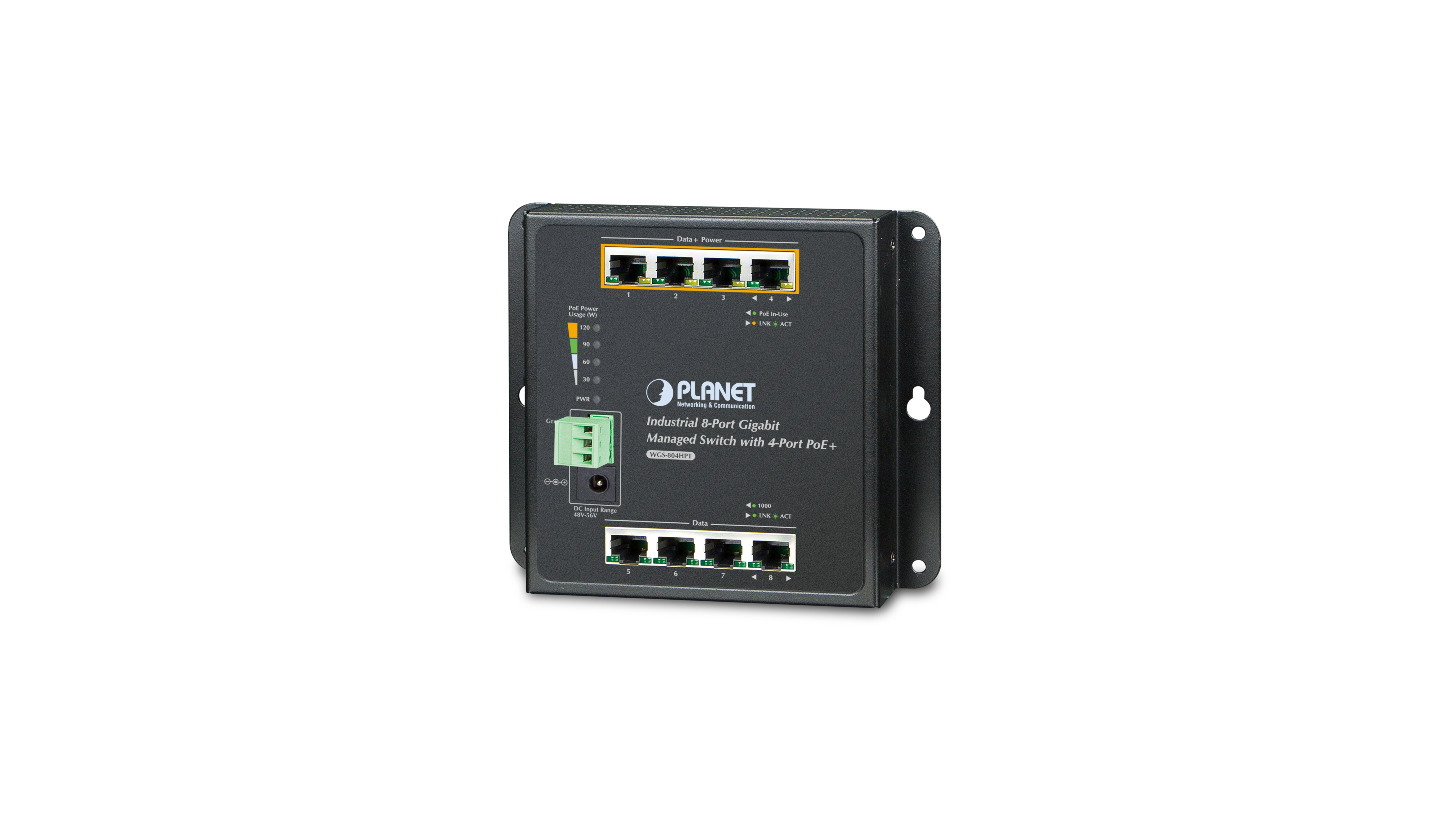 Logo Industrial Gigabit Wall-mounted Switch