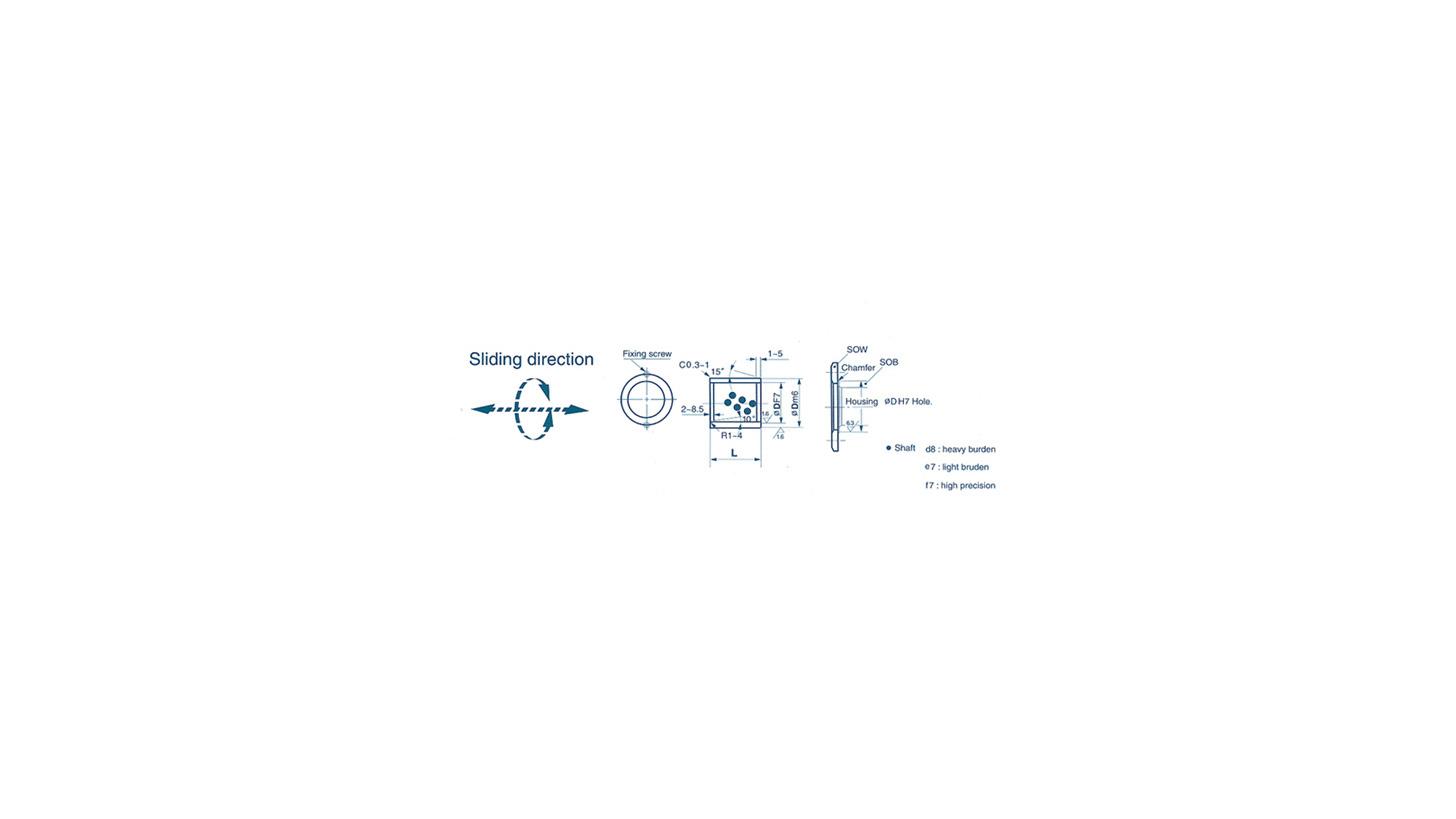 Logo Embedded-Type Bearing - BUSH PARTS