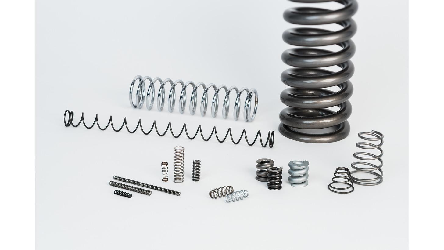 Logo Round wire compression springs