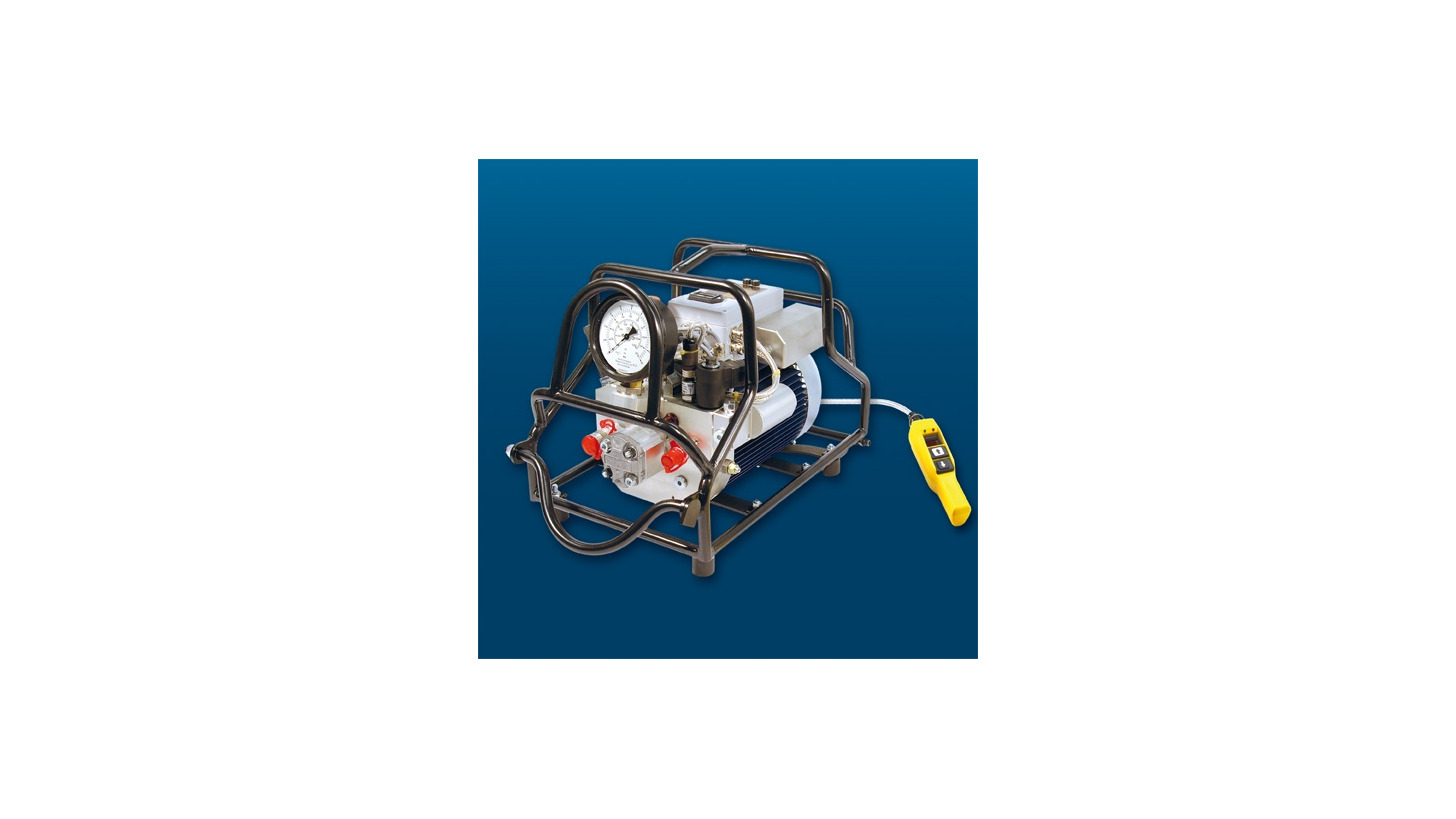 Logo Hydraulic Power Pack VAX, electrical and pneumatic
