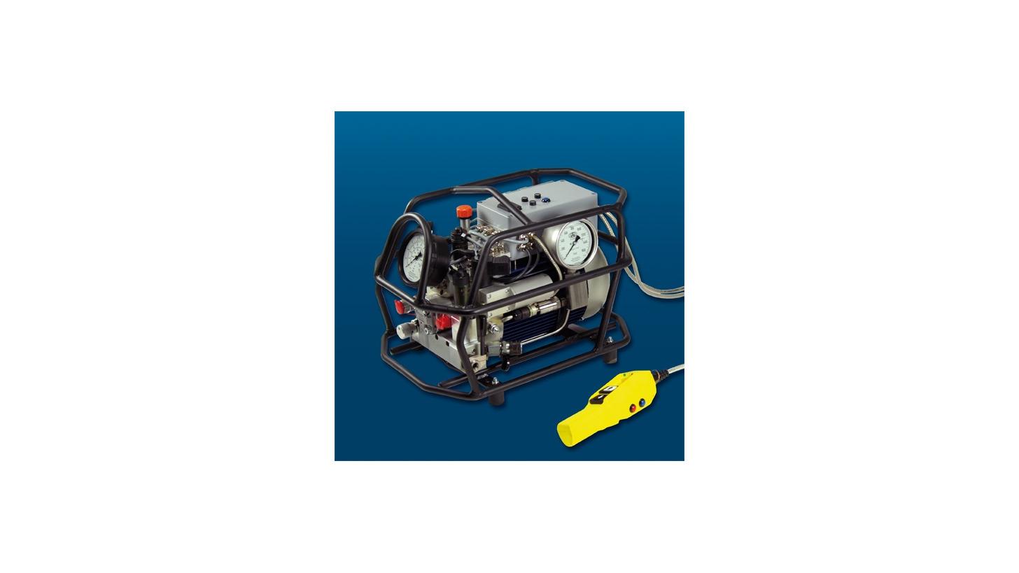 Logo Hydraulik-Aggregat Dual-Power-VAX, elektrisch oder pneumatisch