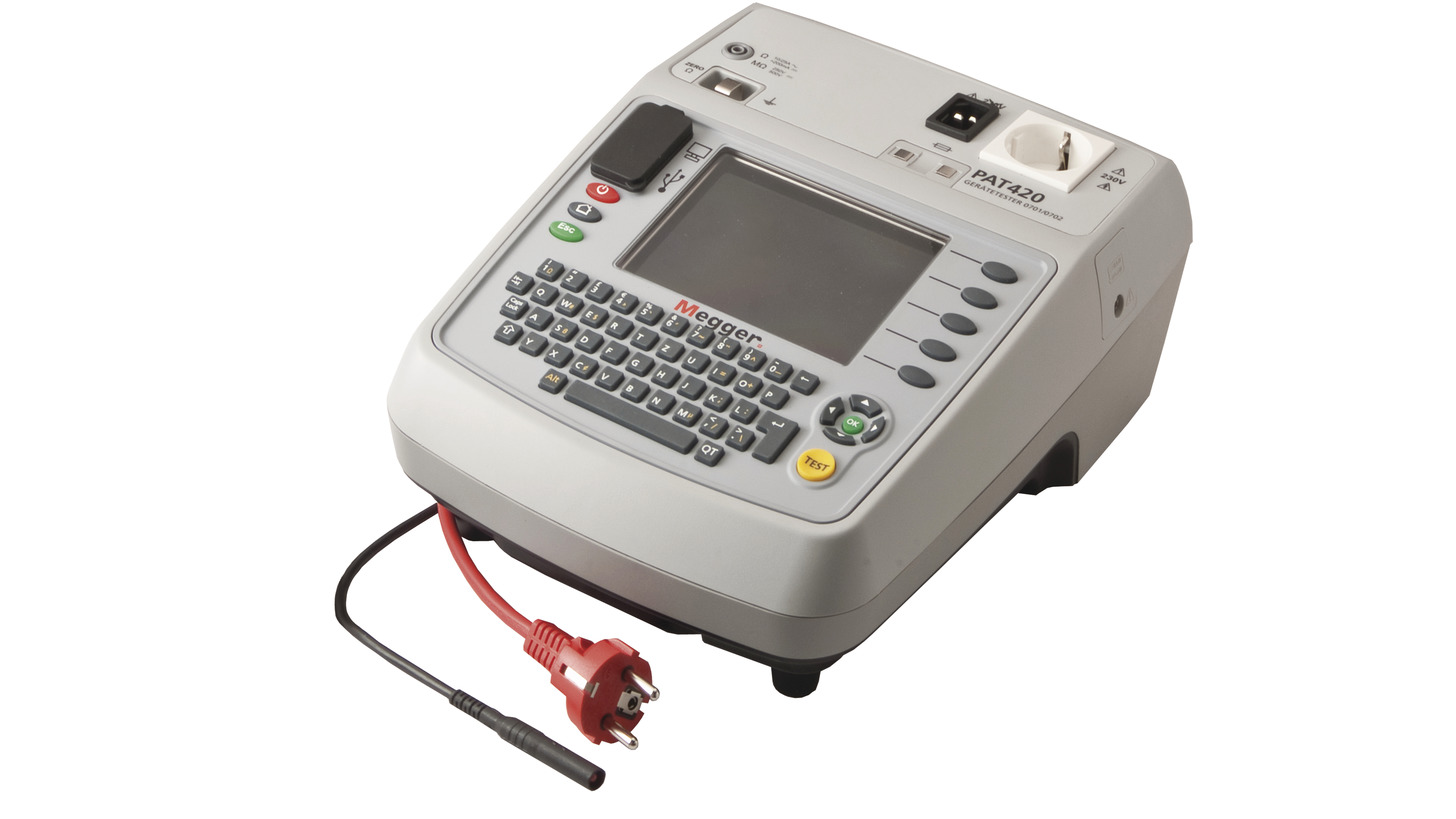 Logo Portable Appliance Tester PAT320 and PAT350