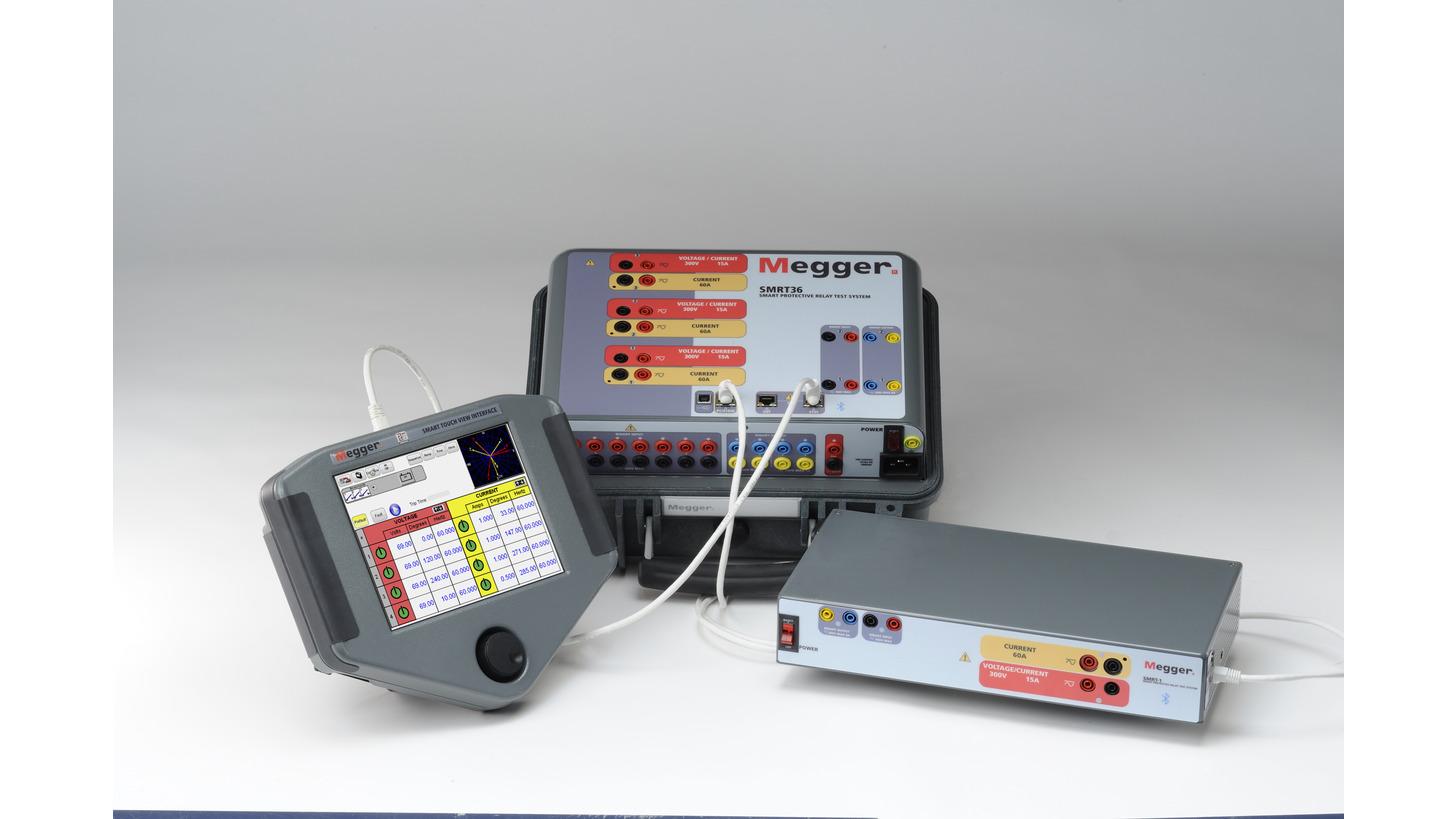 Megger Oberursel Exhibitor Hannover Messe 2018 Insulation Tester Constant 5kv Smrt36 Relay Test System