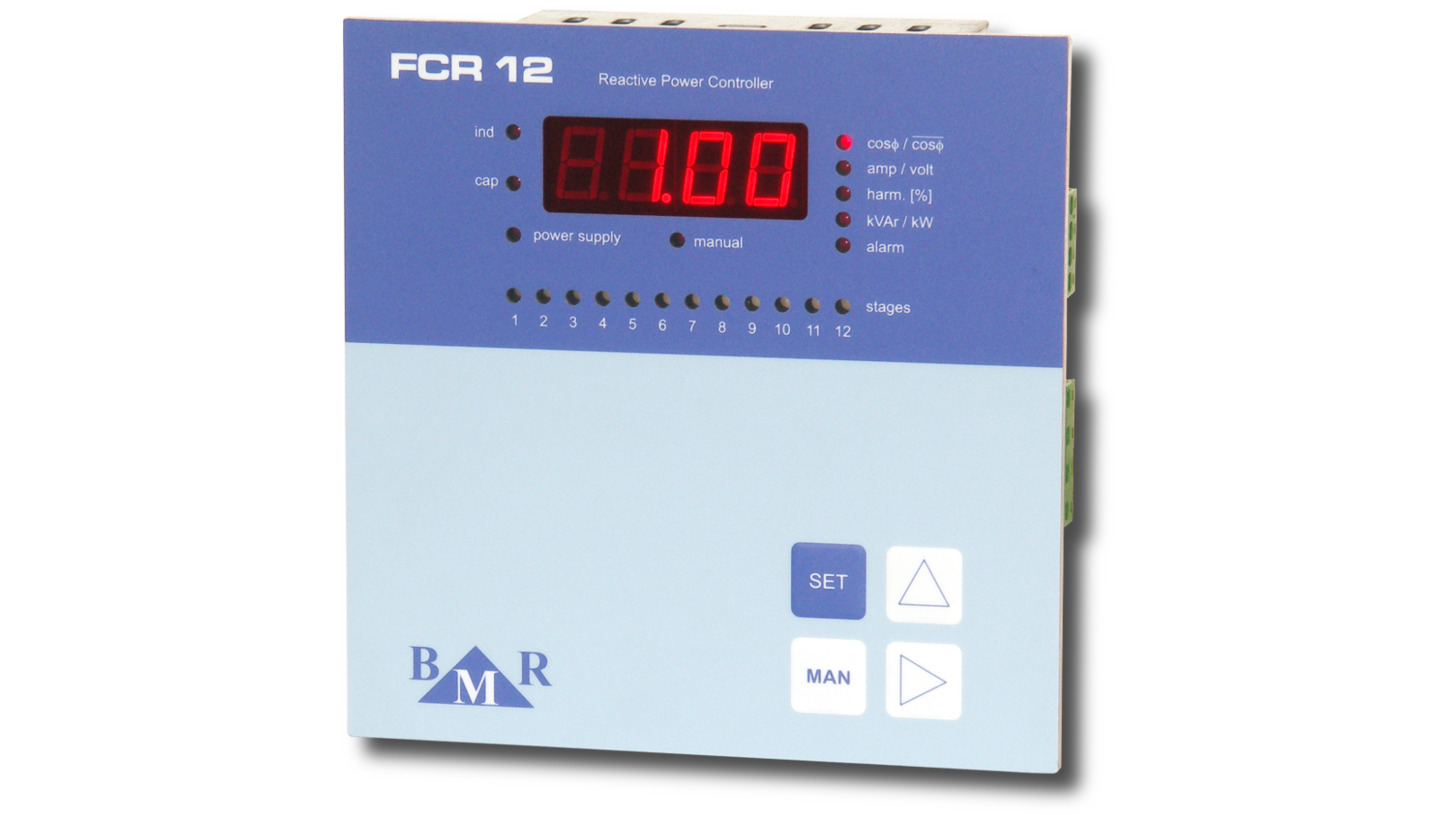 Logo FCR06 and FCR12 power factor controller