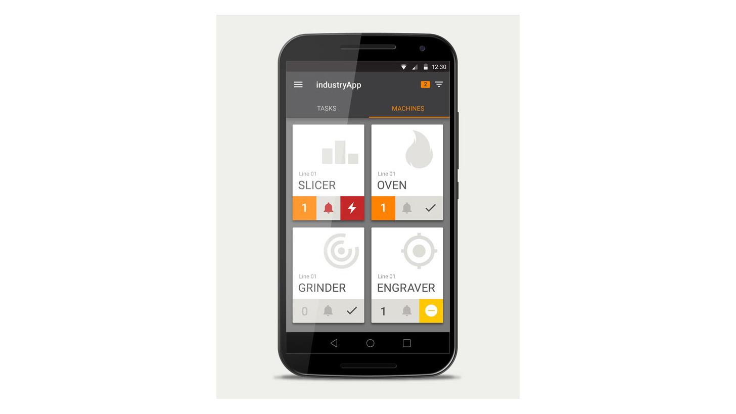 Logo Optimierung der Produktion mit Apps