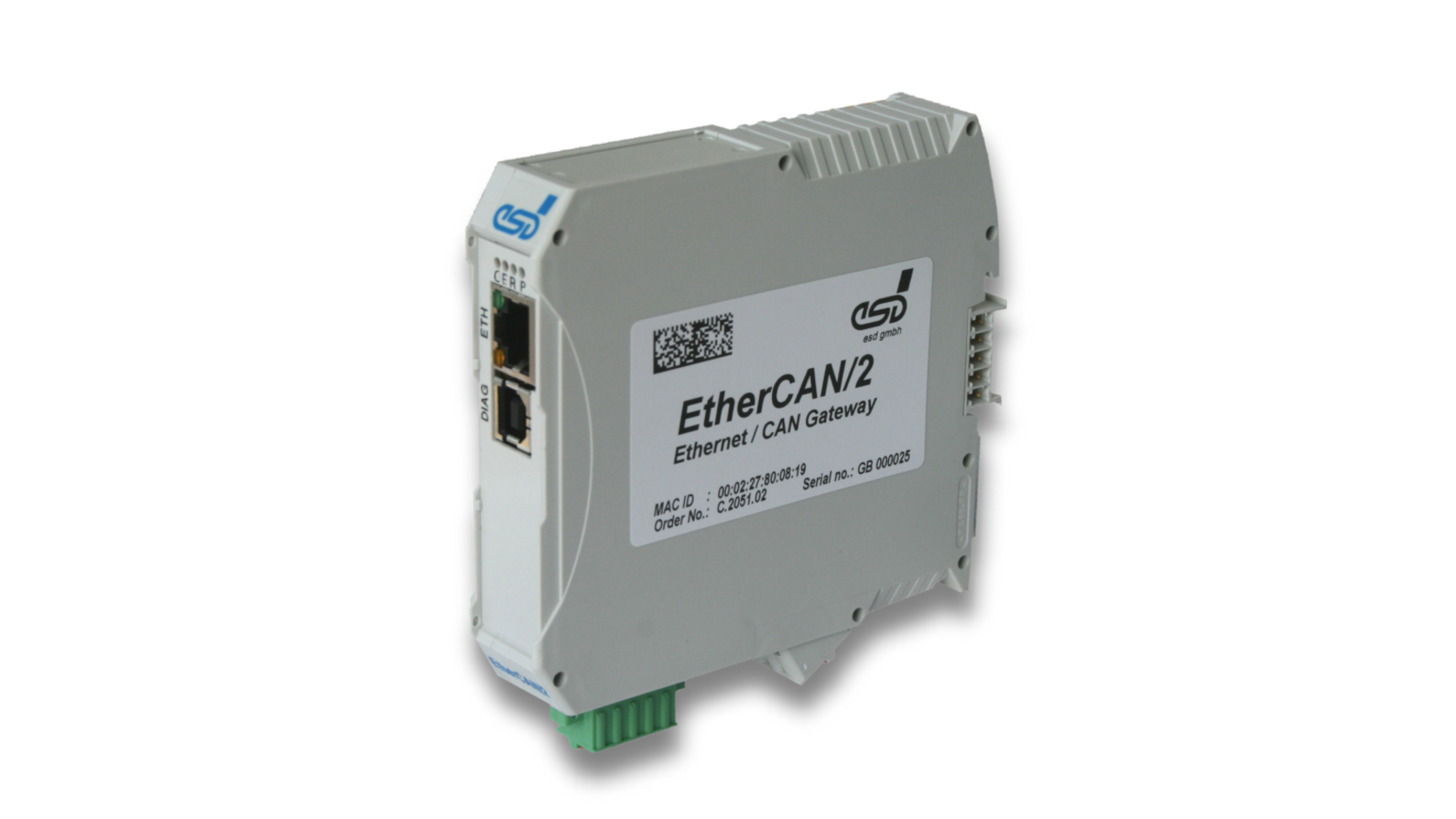 Logo Gateway: EtherCAN/2, CAN/Ethernet