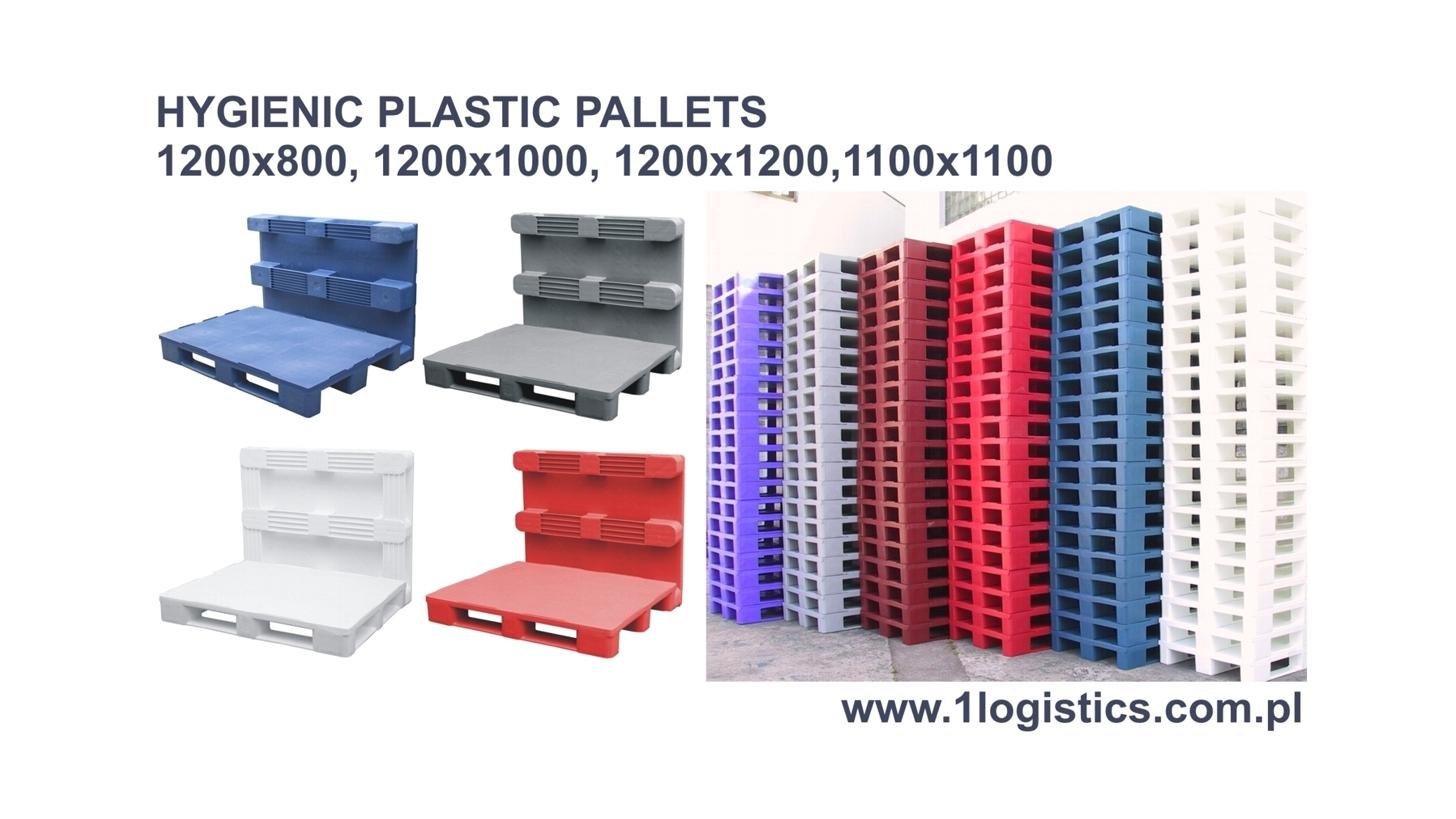 Logo Hygienic plastic pallets