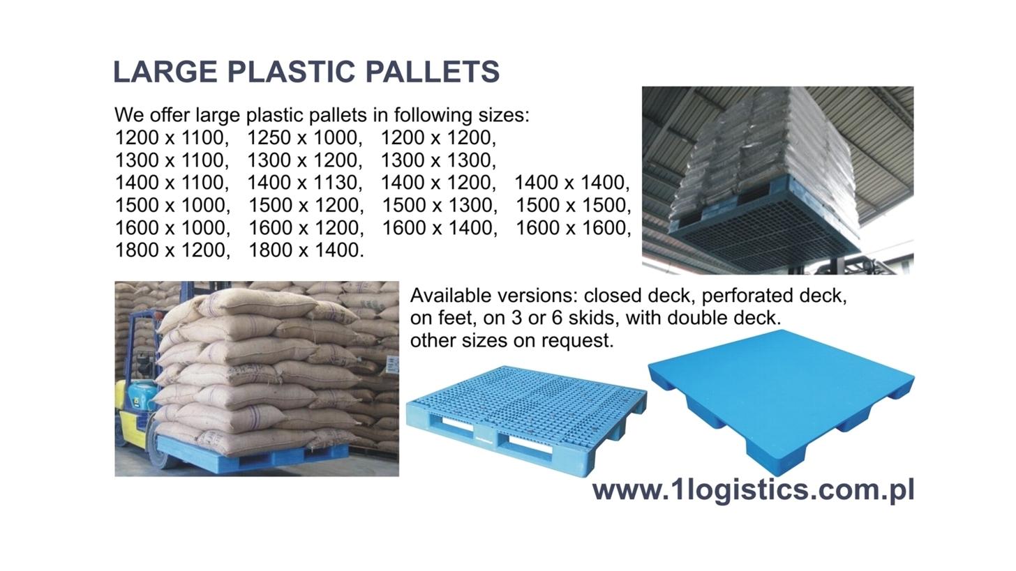 Logo Large plastic pallets